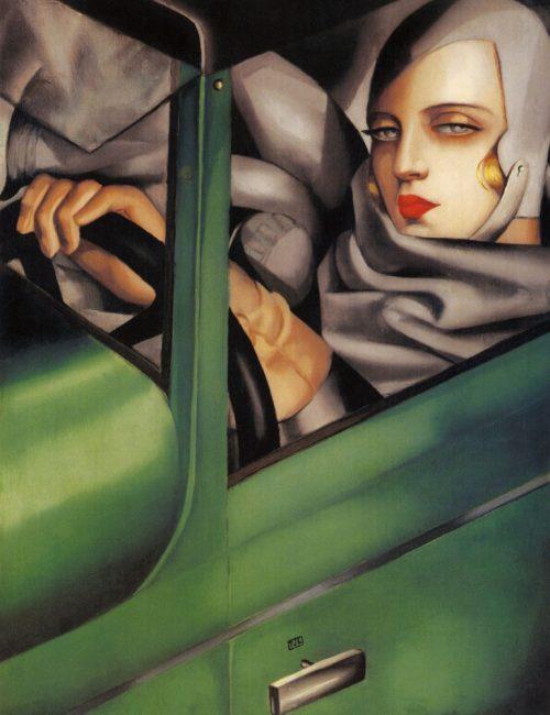 Tamara-de-Lempicka-Autoritratto-sulla-Bugatti-verde-1929-771x1024